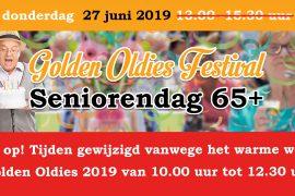 Golden Oldies Festival – tijden gewijzigd